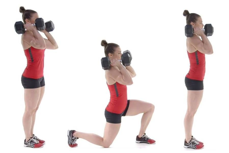 MOVEMENT TIP: Dumbell Front Rack Lunge